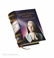 Miniature Book Santa Teresa De Jesus Hardcover Easy Read 329 Pages Español