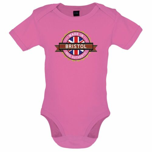 Made In BRISTOL Babygrow City Bodysuit Town 7 Colours
