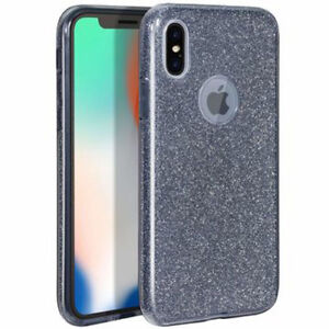 COVER Custodia Glitter Morbida Silicone GEL per Apple iPhone XR