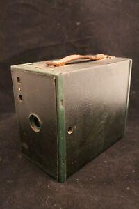Vintage Green Kodak Brownie No 2A Camera Antique box