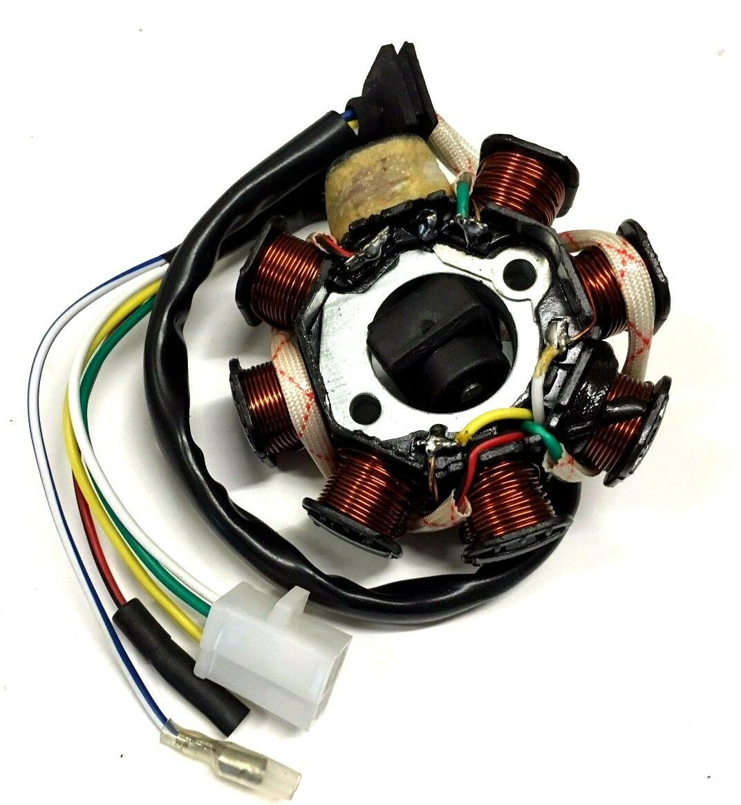8 COIL STATOR WIDE 2 PRONG PLUG 50CC GY6 MOTOR SCOOTERS