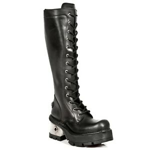 Bottes Gothic New Style Boots S1 Punk Rock Womens 236 Noir 6Ybg7fy