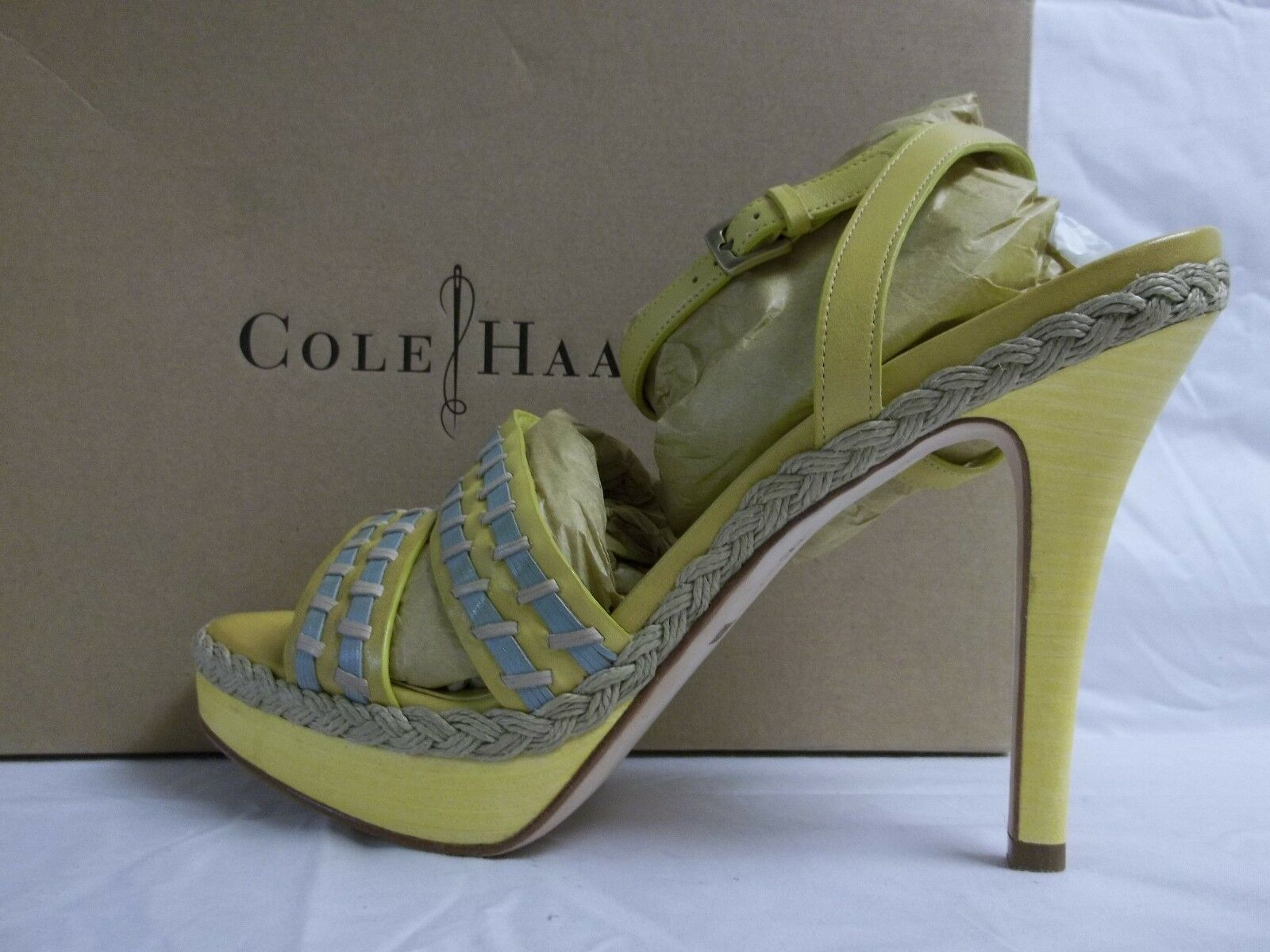Cole Haan Größe 8.5 Vanessa Chick Sea Ankle Strap Open Toe Heels NEU Damenschuhe Schuhes