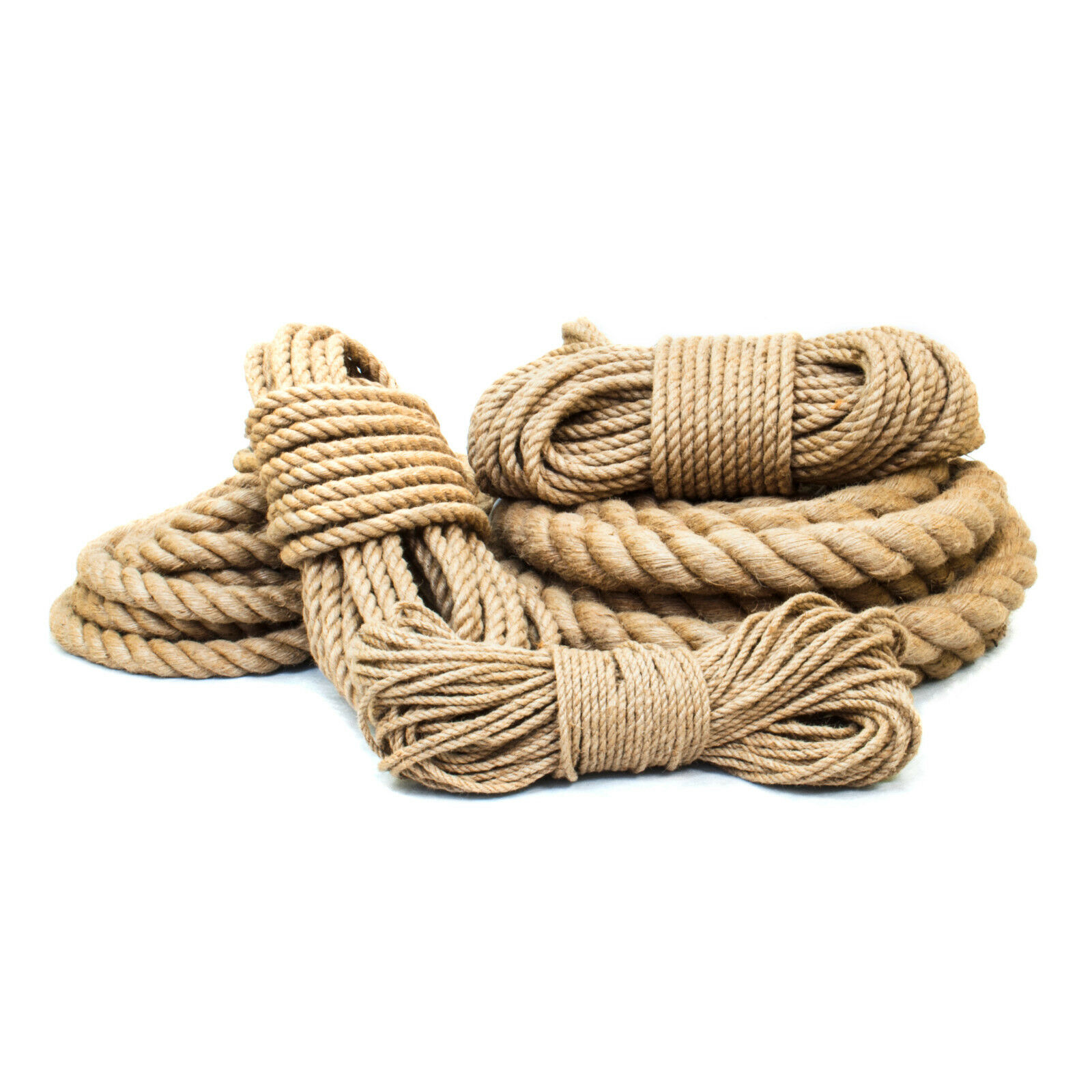 JUTESEIL 6-60mm ab Rope 5 Meter Tauseil Hanfseil Naturhanf Jute Rope ab Tauziehen ceb03e