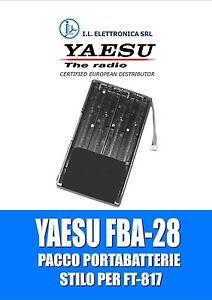 FBA-28 YAESU BATTERY CASE PER FT-817/818 100152