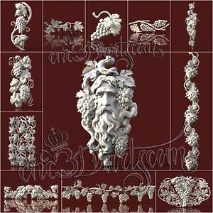 12-3D-STL-Grape-Models-for-CNC-Router-Carving-Machine-Relief-Artcam-aspire-Cut3D