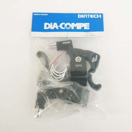 DIA-COMPE TECH99 GOLD FINGER Brake Lever Left /& Right Black x Black Pair