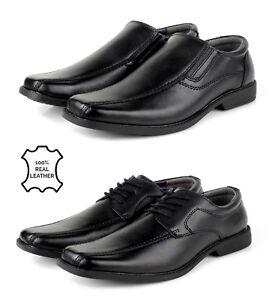 9f4e8b971bc Hombre Elegante Zapatos de Cuero Negros sin Cordones Vestir con ...