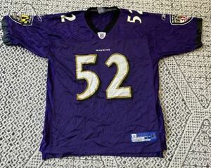 Ray Lewis #52 Baltimore Ravens Reebok Nfl Football Jersey Tamanho ...