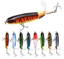 Hard Plastic Popper Lure Bait Floating Topwater Saltwater Tackle UK Fishing F6K7