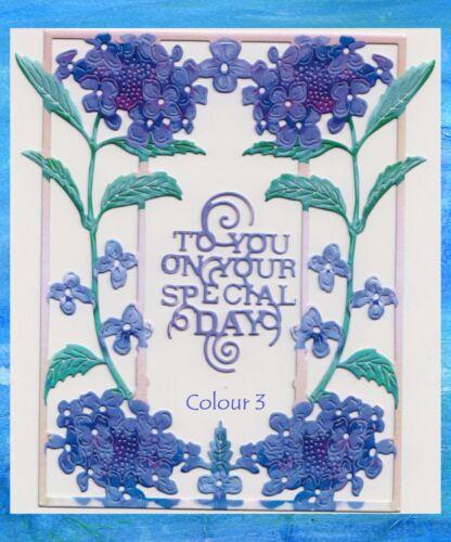 10 Colores//mixto jirones de Encaje Azul Hortensia 20 dado corta//Sentimiento nuevo! !