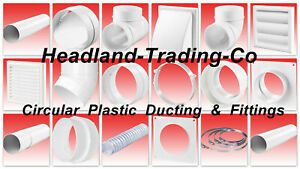 4-034-100mm-PLASTIC-ROUND-DUCTING-FITTINGS-Ventilation-Tube-EXTRACTOR-FAN-Vent-Pipe