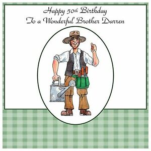 Image Is Loading Mens Handmade Personalised Birthday Card Funny Gardener Gardening