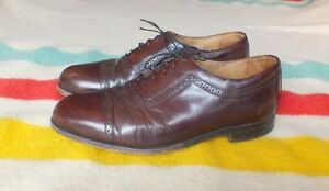BOSTONIAN CROWN WINDSOR Brown Leather Oxfords SZ 11 D VG Cond US Made Quality!