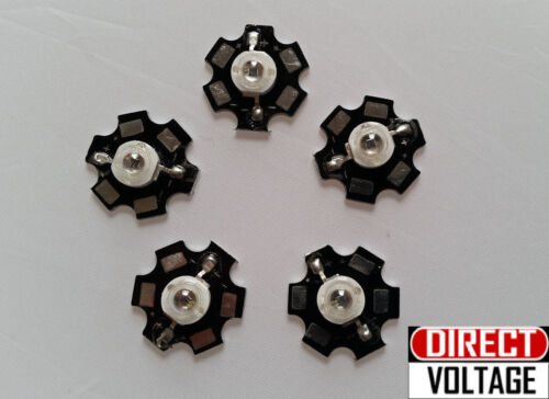 5pcs 1.4V Invisible 1.6V 700ma 940nm Infrared IR LED with 20mm Star Bead