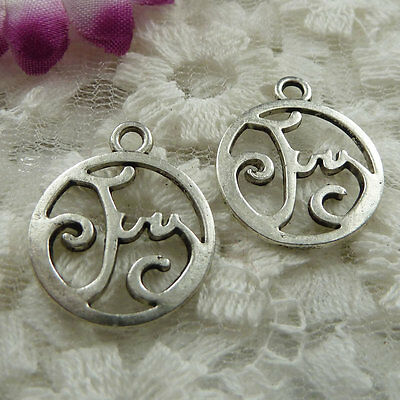 Free Ship 80 pieces Antique silver joy charms 22x18mm #447