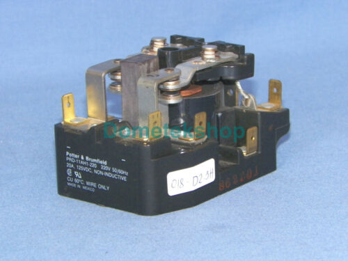 Potter /& Brumfield PRD-11AH1-220 Non-inductive relay 125-220 VDC 20 A 50//60 Hz