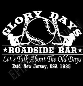 BRUCE-SPRINGSTEEN-Inspirado-Camiseta-Mujer-EL-JEFE-Glory-dias-Roadside-Bar-nina
