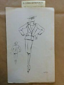 39-RA-Bozzetto-Figurino-Moda-Croquis-de-Mode-Models-pour-Dames-N-775-anni-039-80