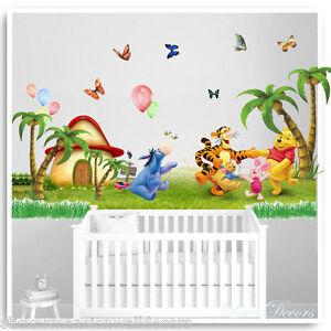 Nice Image Is Loading Winnie The Pooh Wall Stickers Animal Tree Nursery