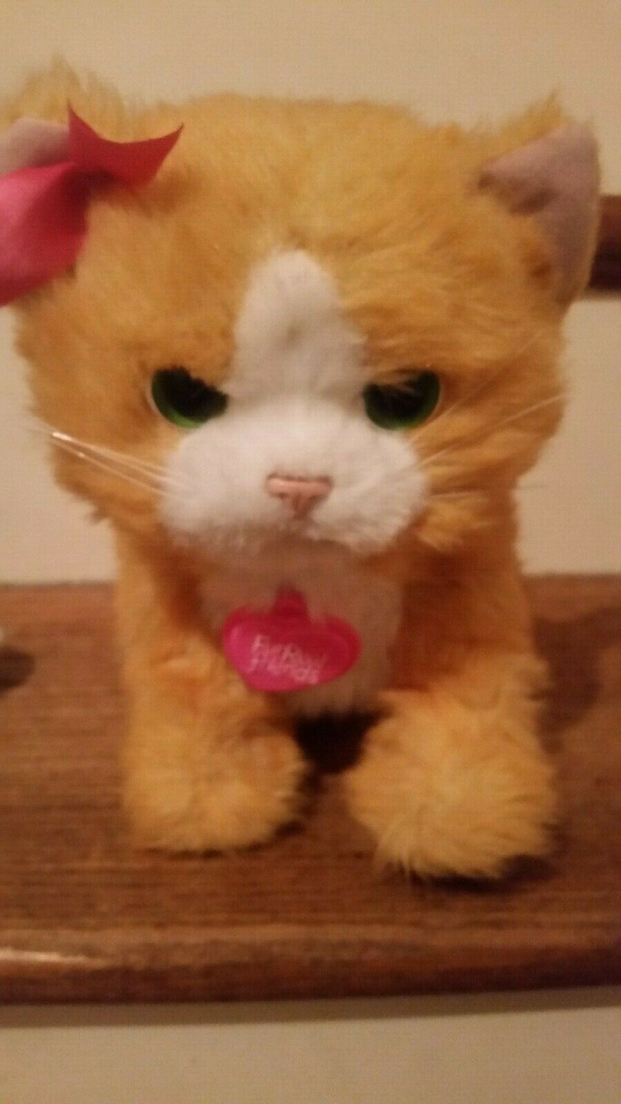 Fur Real Daisy The Animated Cat Hasbro Toy Plush Animal Interactive Cat, Realist