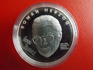 * Bundespräsident Roman Herzog * Silbermedaille Pp (999) *ca.20g.(kof3) Um Jeden Preis