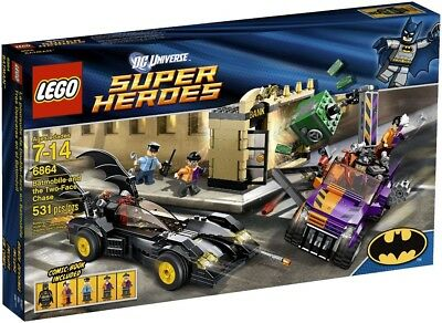 LEGO 6864 Super Heroes Batmobile /& the Two-Face Chase Empty BOX Only No Legos