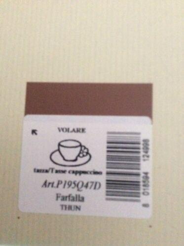 7-Thon cappuccino tasse papillon grand