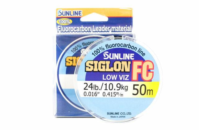 5914 Sunline Siglon FC Fluorocarbon Line 50m 24lb Diameter 0.415 mm
