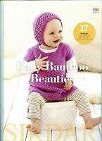 Baby Bamboo Beauties Sirdar Knitting Pattern Book 500 - 17 Designs Birth-7years