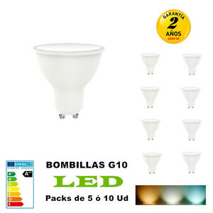 Bombillas-LED-GU10-7w-Equivalente-a-70W-580LM-No-Regulable-Pack-5-10-Unidades
