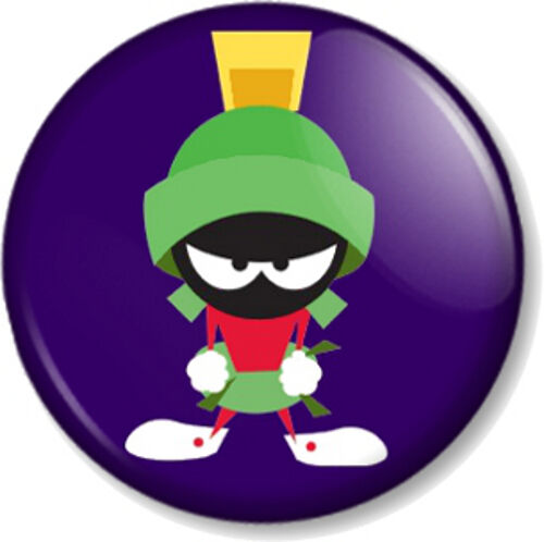 "Marvin the Martian 25mm 1/"" Pin Button Badge Cartoon Character Looney Tunes Alien"