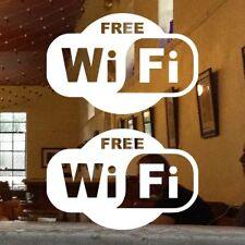 """2 BRAND NEW 6"""" FREE WIFI STICKER DECALS SHOP RESTAURANT DINER PUB BAR CAFE"""
