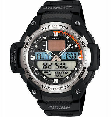 Casio Twin Sensor Watch, 5 Alarms, Altimeter, Thermometer, Barometer,SGW400H-1BV