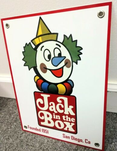 Jack in the Box hamburgers tacos fast food restaurant Nostalgia sign