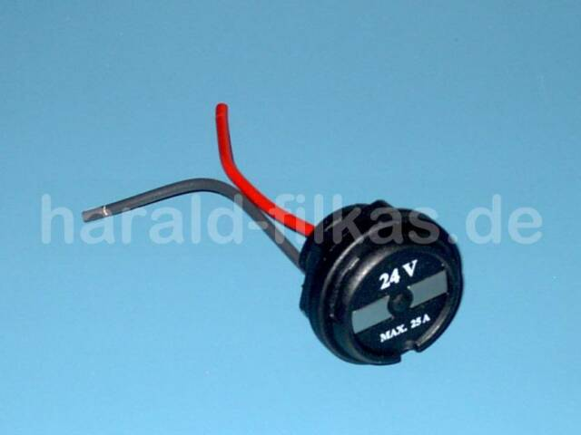 Rot 24 Volt Starterknopf // Taster 12,5 Ampere 6-12