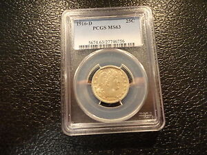 1916-D BARBER SILVER QUARTER PCGS MS 63 NICELY STRUCK