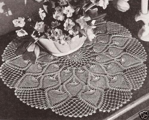 Vintage Crochet Pineapple Doily Centerpiece Pattern Ebay