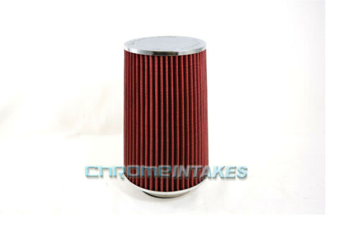 "RED UNIVERSAL 3.5/"" BIG 9/"" DRY AIR FILTER FOR VOLVO//JAGUAR SHORT//COLD AIR INTAKE"