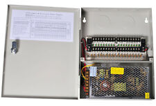 18 PORT 10 AMP 12V DC CCTV SECURITY CAMERA POWER SUPPLY BOX PTC 16 Ch Ampere