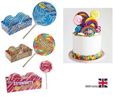 10 Rainbow Twist Unicorn Lollipops Lollies Party Bag Favors Fillers Birthday Hen
