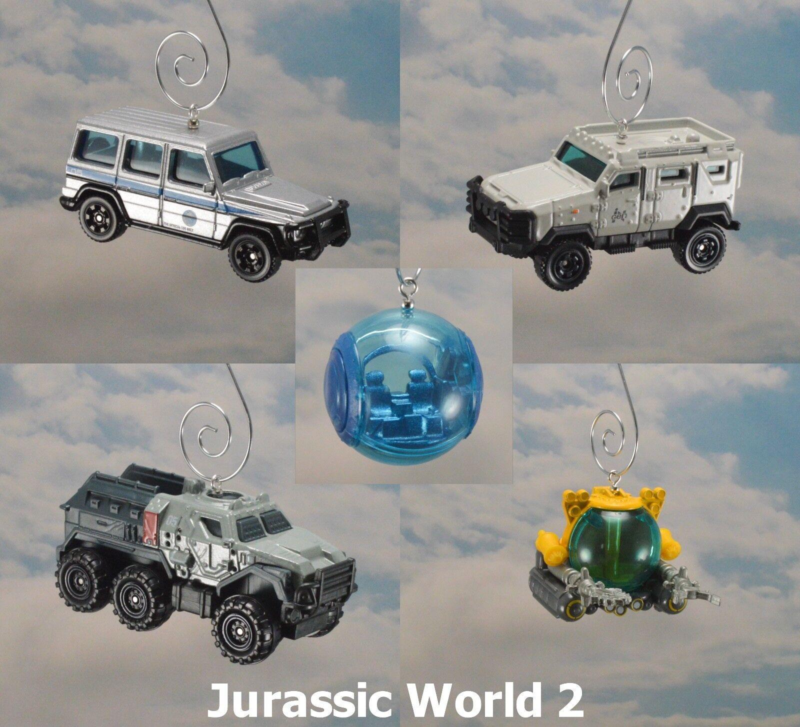 Jurassic World Park Mercedes Benz Gyrosphere Textron Vehicle Christmas Ornament