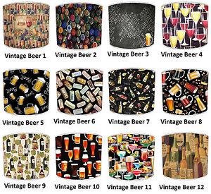 Abat-jour-Qui-Convient-Vintage-Retro-Biere-Spirit-Vin-Coussins-amp-Papier-Peint