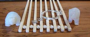 1-925 SterlingSilver Bangle Adjustable Baby/Toddlers Bracelet & Earring Set Ck