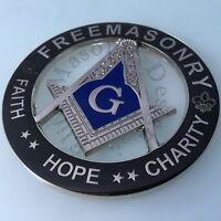 Masonic Master Mason Cut Out Car Emblem