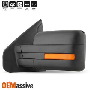 Fit 2007-2014 Ford F150 Power Heated Puddle LED Signal Driver Left Side Mirror