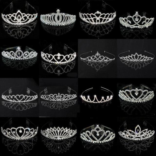 Wedding Bridal Child Kids Women Rhinestone Pageant Birthday Tiara Crown Headband