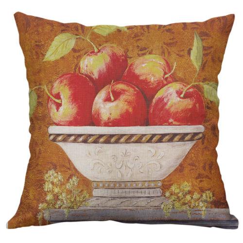"18/"" Vintage Flowers Cotton Linen Pillow Case Throw Cushion Cover Home Decor"