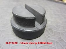 Trolley Jack Strumento pad in gomma pizzico di saldatura slot Profondo 20mm 10mm SOLLEVAMENTO AUTO D'EPOCA