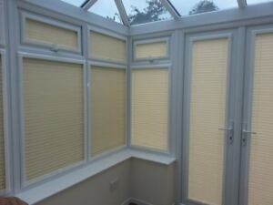 Perfect Fit Pleated Blinds For Conservatory Windows Doors Cream